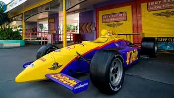 37. Tomorrowland Speedway: Guests can take the wheel of a gas-powered car and speed through a winding track.Location: TomorrowlandHeight: 32 inches (81 cm) or taller