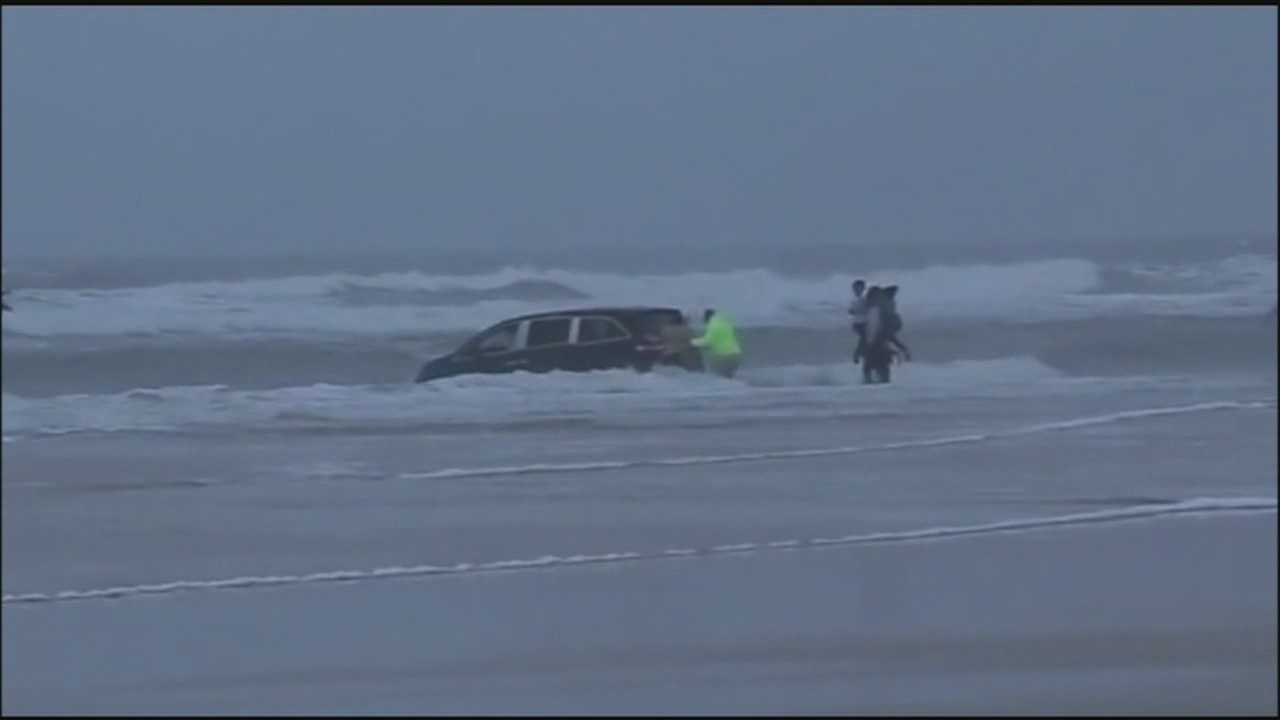 The Daytona Beach Police Department says the family of the mother who drove into the ocean did not tell them they wanted her hospitalized.