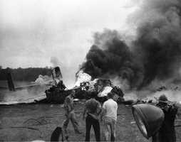 1954: B-25 crash in Tallahassee