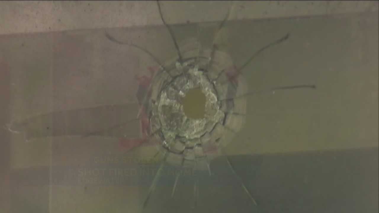 Edgewater police are investigating after several guns were stolen from a car and fired early Tuesday morning.
