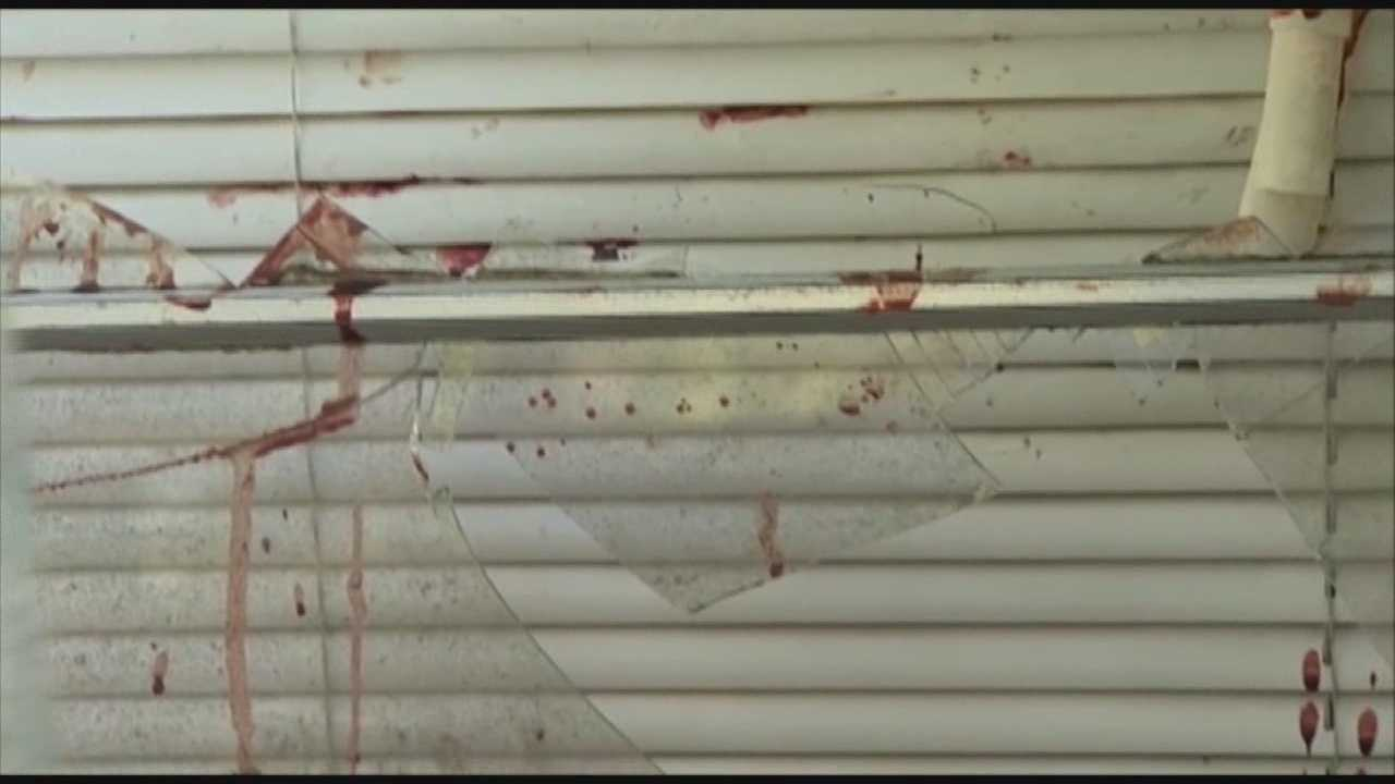 A 14-year-old boy protects his family from a bloodied man on drugs who tried breaking into the DeLand home at 4 a.m.