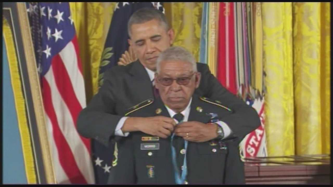 Melvin Morris is one of 24 veterans the government now says were overlooked because of prejudice against minorities.