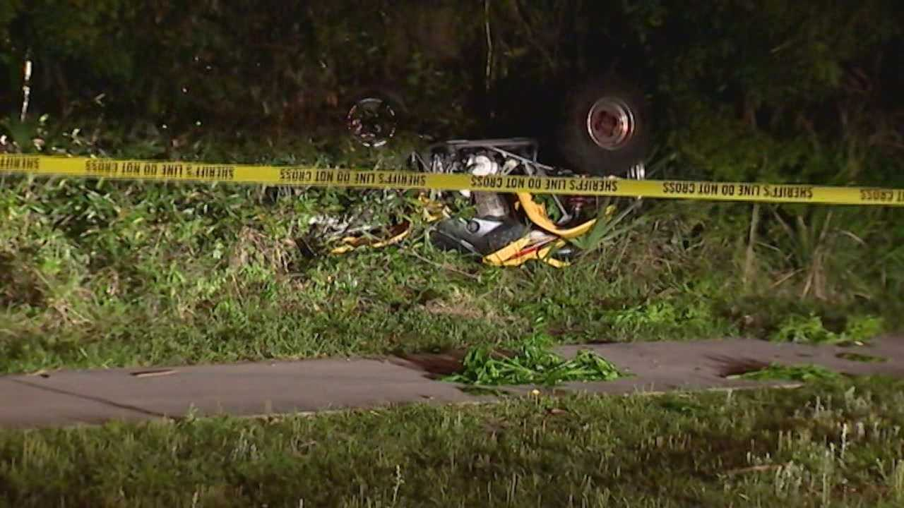 One man is killed and another man is critically injured from ATV crash in Chuluota.
