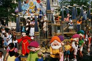 The Remember the Magic parade debuted at Walt Disney World for the Magic Kingdom Park's 25th anniversary in 1996.