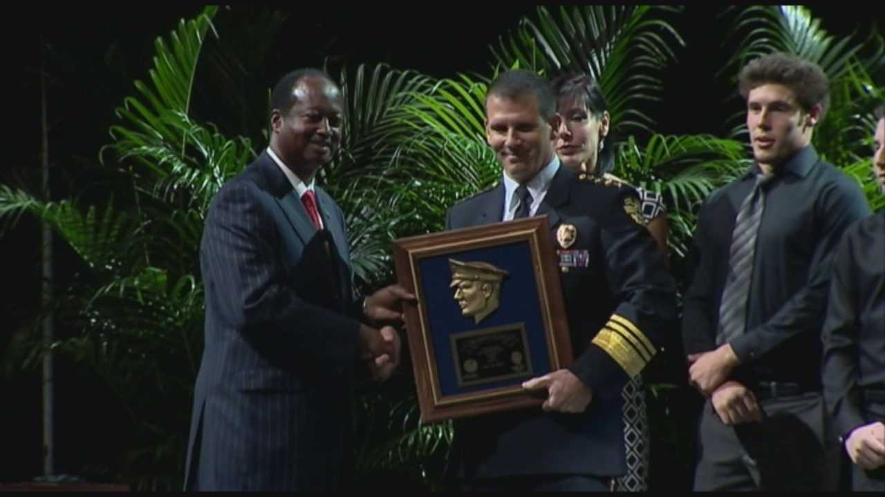 John Mina, who was sworn in as the new chief of the Orlando Police Department, has been on the force for 23 years.