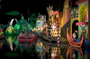 """The song from the attraction can be heard somewhere on the planet every hour of the day. With several """"it's a small world"""" attractions at different Disney parks, it's always playing somewhere on Earth."""