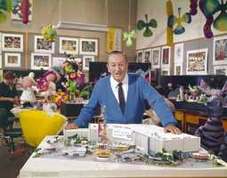 """""""it's a small world"""" debuted at the World's Fair in 1964. It moved to Disneyland after the 1965 World's Fair, and Disney officials said some original shipping stickers can still be seen on some set pieces."""