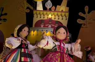 There are more than 240 audio-animatronic figures, representing children around the world, in each location of the attraction.