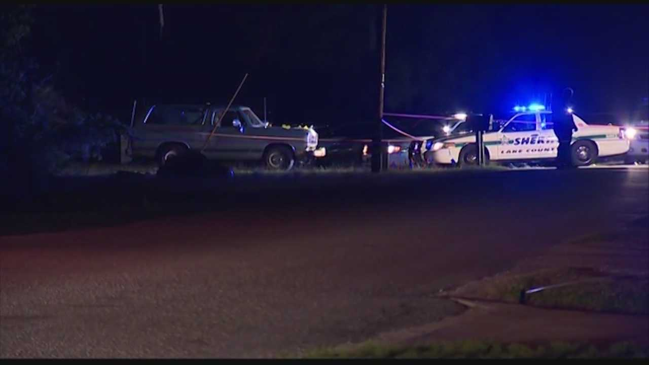 Lake County deputies said they shot an armed man overnight after he pointed a gun at them while threatening suicide.