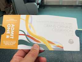 A SunRail Grand Opening ticket.