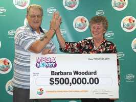 Barbara Woodward won $500,000 playing Mega Money.
