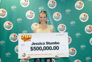 Jessica Stumbo, of Largo, won $500,000 from a scratch-off.