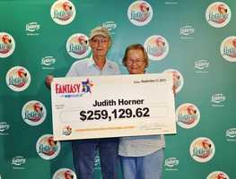 Judith Horner, of Tavares, won $259,129.62 playing Fantasy 5.