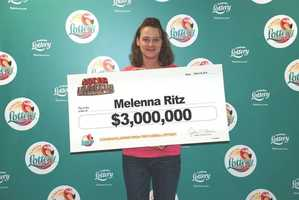 Melenna Ritz, of Marianna, won $3 million from a scratch-off.