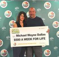 Michael Dallas, of Atlanta, GA, won $500 a week for life from a scratch-off.Michael Dallas, of Atlanta, GA, won $500 a week for life from a scratch-off.