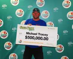 Michael Tracey, of Ponte Vedra, won $500,000 from a scratch-off.