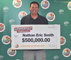 Nathan Eric Smith, of Jupiter, won $500,000 from a scratch-off.