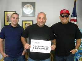 Pedro Mantilla won $1 million playing Powerball.