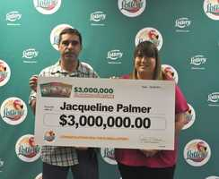 Jacqueline Palmer, of Okeechobee, won $3 million from a scratch-off.