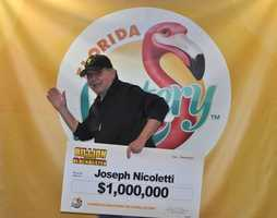 Joseph Nicolleti, of Central Islip, New York, won $1 million off a scratch-off.