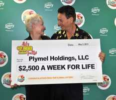 Plymel Holdings, LLC, Donald and Susan Plymel, of Melbourne, won $2,500 a week for life on a scratch-off game.