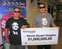 Steven Vaughan won $1 million playing Powerball.