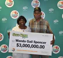 Wanda Spencer, of Campbellton, claimed a $3,000,000 prize in the Gold Rush Tripler scratch-off game.