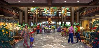 The Polynesian Lobby will be completely opened up, providing more light, sparkle and views.