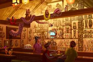 Back bar at Trader Sam's