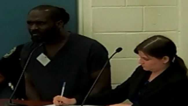 Robinson Hedghill and the assistant public defender listen to the judge during Sunday's hearing.