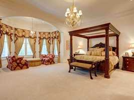 Master bedroom is on the second floor. The entire second floor features 14-foot ceilings.