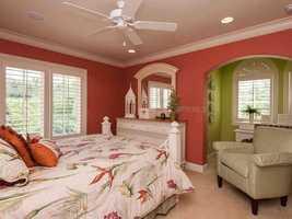 Apartment bedroom.