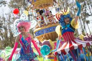 "The the ""Disney Festival of Fantasy Parade"" will run at 12 p.m. and 3:30 p.m. and Disney's Main Street Electrical Parade will run at 11 p.m. and 1 a.m. And ""Wishes Nighttime Spectacular"" fireworks will run at 9 p.m. and ""Celebrate the Magic"" at 8:45 p.m., 9:45 p.m., and 11:45 p.m."