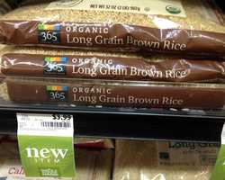 Organic Long Grain Brown Rice at Whole Foods: $3.99