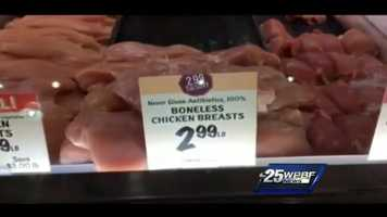 Boneless chicken breasts at Fresh Market: $2.99/pound