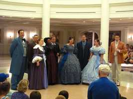 The Voices of Liberty perform several times daily inside The American Adventure attraction. The group sings a capella versions of timeless songs from U.S. history.
