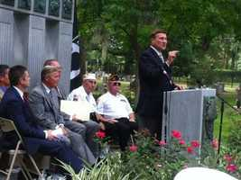 Congressman John Mica gives remarks at today's event.