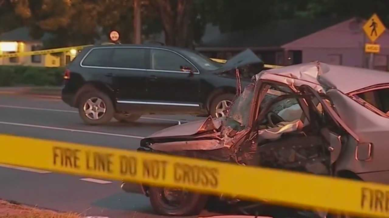 The search is on for a driver who caused a hit-and-run crash that killed two people near Pine Hills.