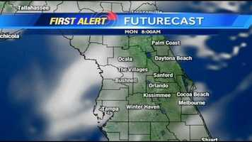 See an hour-by-hour look at storms expected Monday.