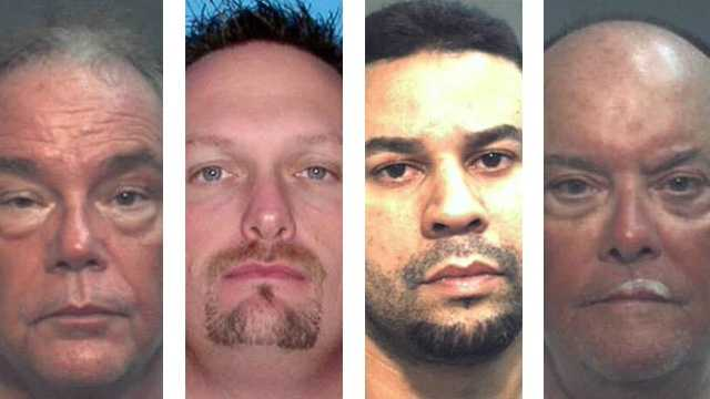 Nine men were arrested on Friday during an undercover operation in an Orlando park.