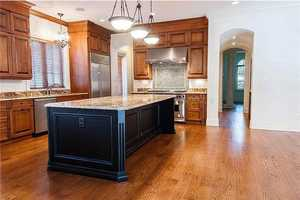 Gourmet kitchen with top of the line professional appliances.
