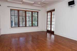 Wood floors are also in the bedrooms.