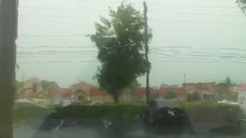 Heavy rain fell along Colonial Dr. during Wednesday's storms.