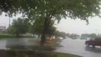 Heavy storms were moving along Colonial Dr. on Wednesday.