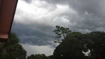Storms moving over Altamonte  Springs.