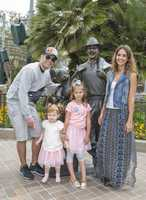 Jessica Alba, her husband Cash Warren and younger daughter Haven, celebrate 6-year-old Honor's birthday at Disneyland.