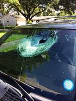 Two Central Florida men said someone chucked concrete at their cars near Alafaya Trail and East Colonial Drive.