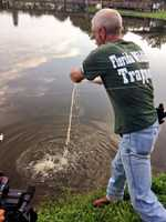 Wildlife workers are trying to catch a shark in Brevard County, however it's not in the ocean but in a park pond.