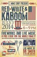 What: Red, White & KaboomWhen: July 3, 6-9 p.m.Where: Frances Langford Promenade at Lake Mirror in Lakeland, Fla.Cost: FreeYou can enjoy live music by Da Smith & The Soul Injectors and fireworks.
