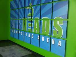 7. Go jump on a giant trampoline at Airheads Trampoline Arena in Orlando.See video about AirheadsTIP: Join Airheads' Trampo-lean Fitness Group four a high-cardio, low impact fitness class.